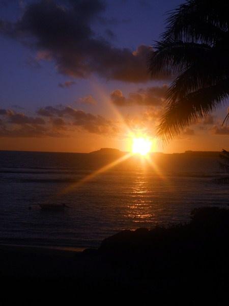 Maré, coucher du soleil