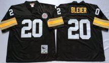 Steelers #20 Rocky Bleier Black Throwback Jersey