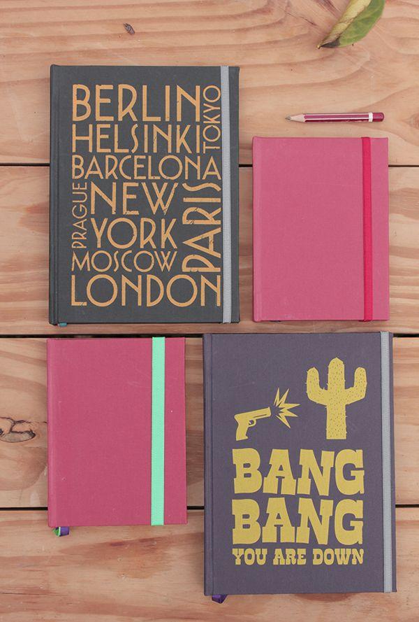 Desain Notes Book - TROMPO - CUADERNOS ARTESANALES SERIGRAFIADOS #notebookdesign #ayuprint.co.id