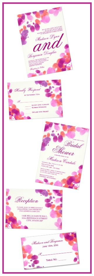 1000 Images About Hot Pink And Orange Wedding Invitations