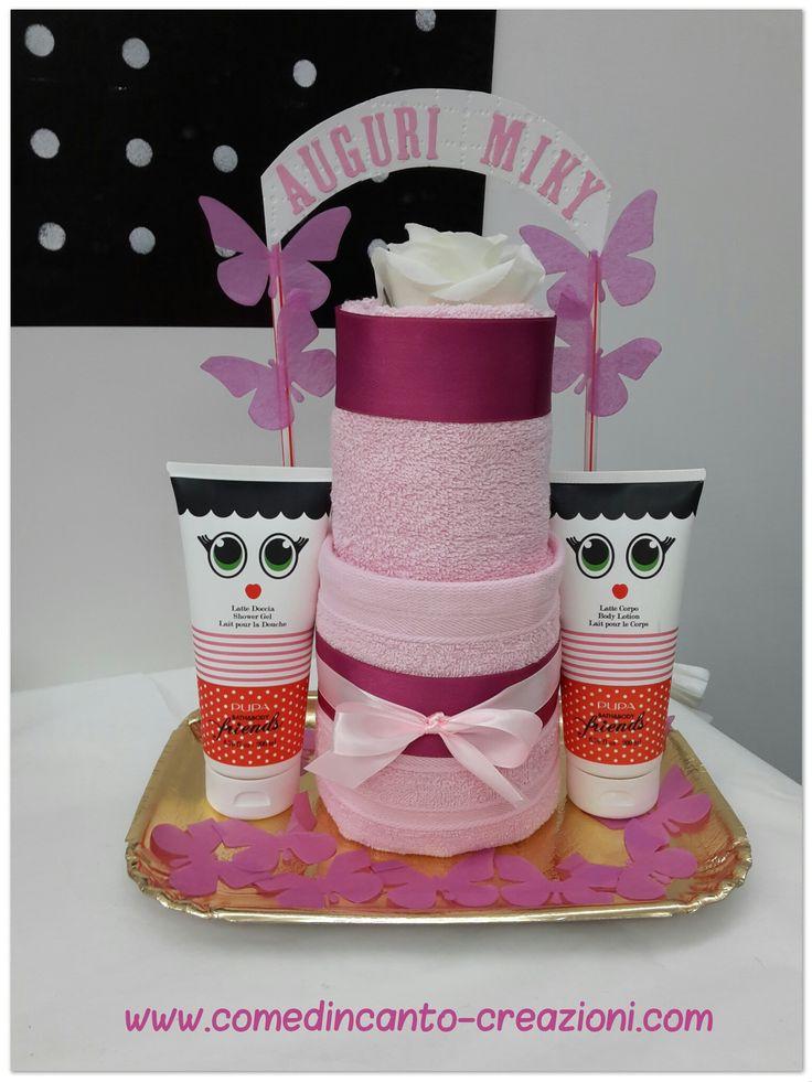 Towel cake - torta di asciugamani - idea regalo compleanno - come d'incanto - carlinifd
