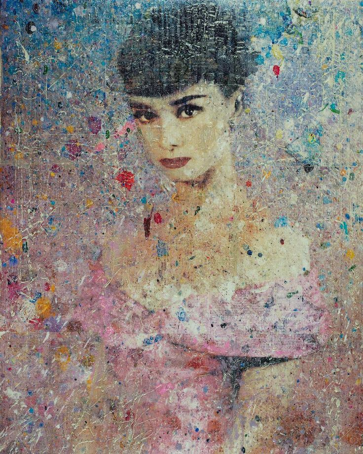 Audrey Hepburn Pink Background Painting Artists