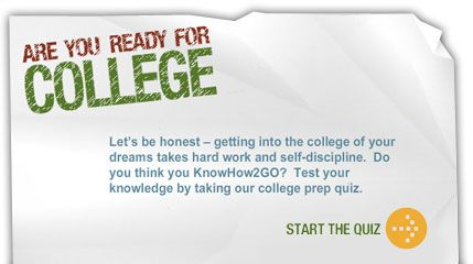 The American Council on Education, Lumina Foundation and the Ad Council created the KnowHow2GO campaign. This multi-year, multi-media effort includes television, radio and outdoor public service advertisements (PSAs) that encourage young people, primarily those in 8th through 10th grade, to prepare for college using four simple steps.