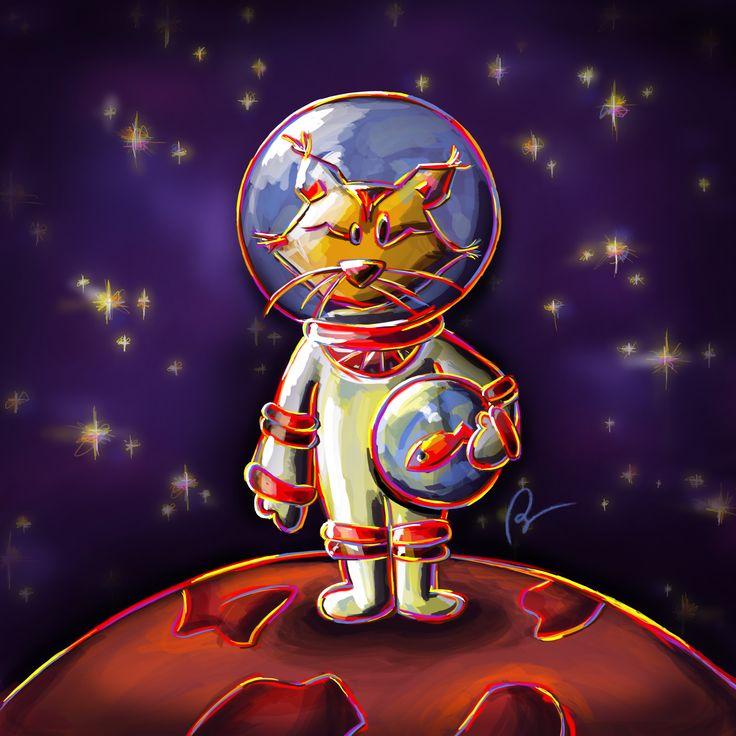 © Stillistic - Nathalie BRIULET - Tous droits réservés. Consultez mon projet @Behance: « Lynx cosmonaute » https://www.behance.net/gallery/56081625/Lynx-cosmonaute