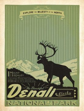 Art & Soul of America: Denali National Park Gallery Print midcentury-fine-art-prints