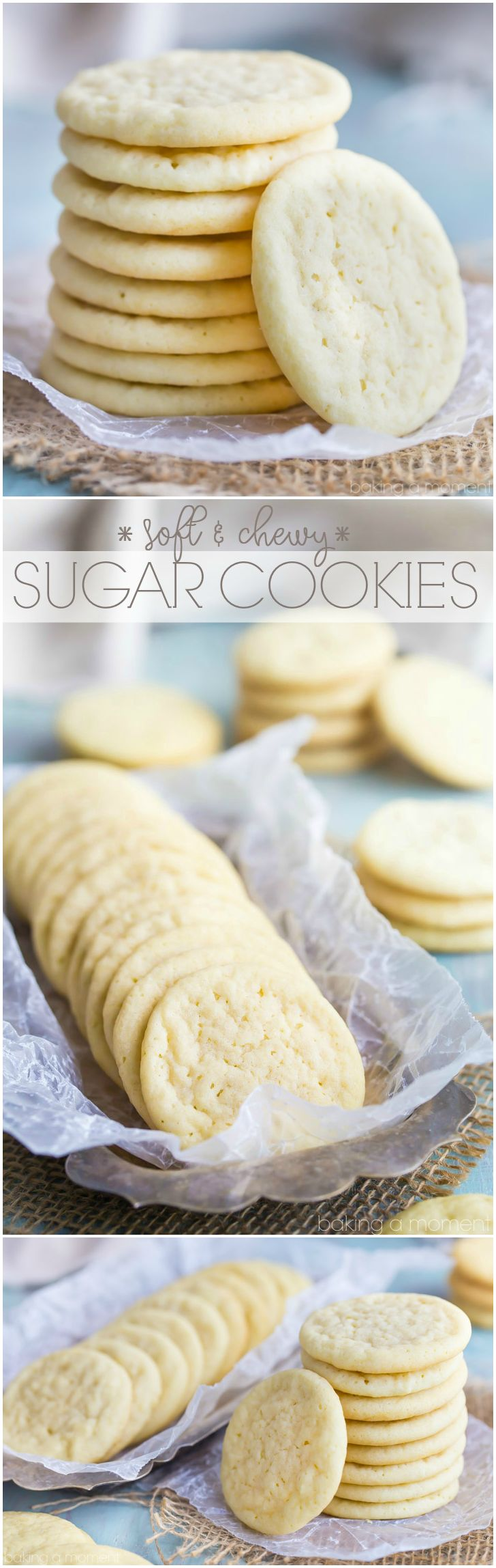 Soft and Chewy Sugar Cookies- this is my favorite recipe: great texture, buttery, and lots of vanilla!