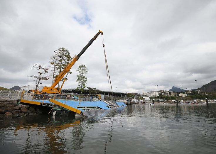 Olympic sailing ramp collapses before Rio de Janeiro games.