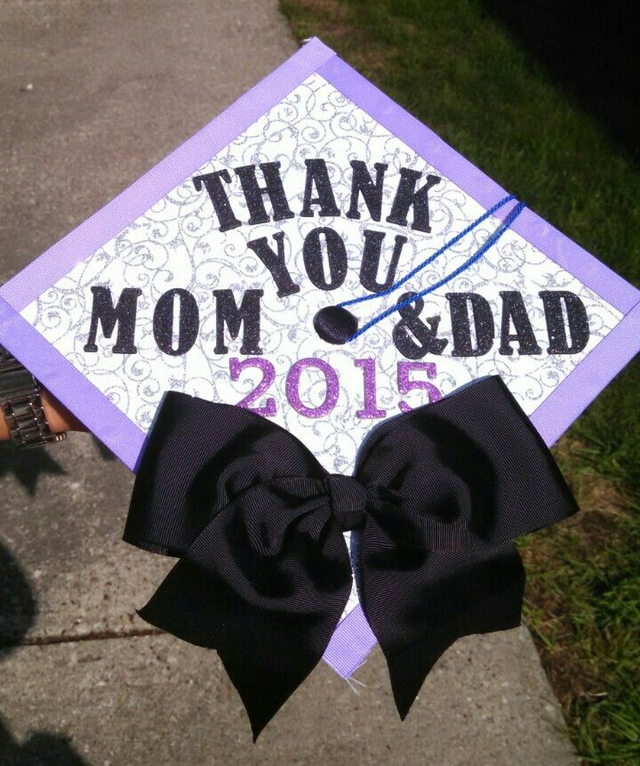 Graduation Cap Decoration Idea With A Cheer Bow Feelin