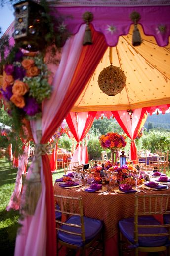 individual table cabana - middle eastern wedding