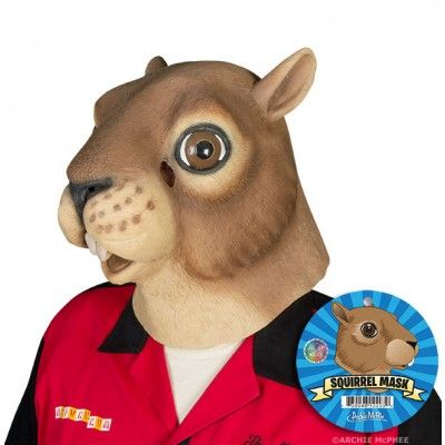 This full-sized, adult Squirrel Mask is the perfect thing to freak out your neighbors. Just slip it on, sneak over and steal birdseed until they notice. Do not wear around dogs.