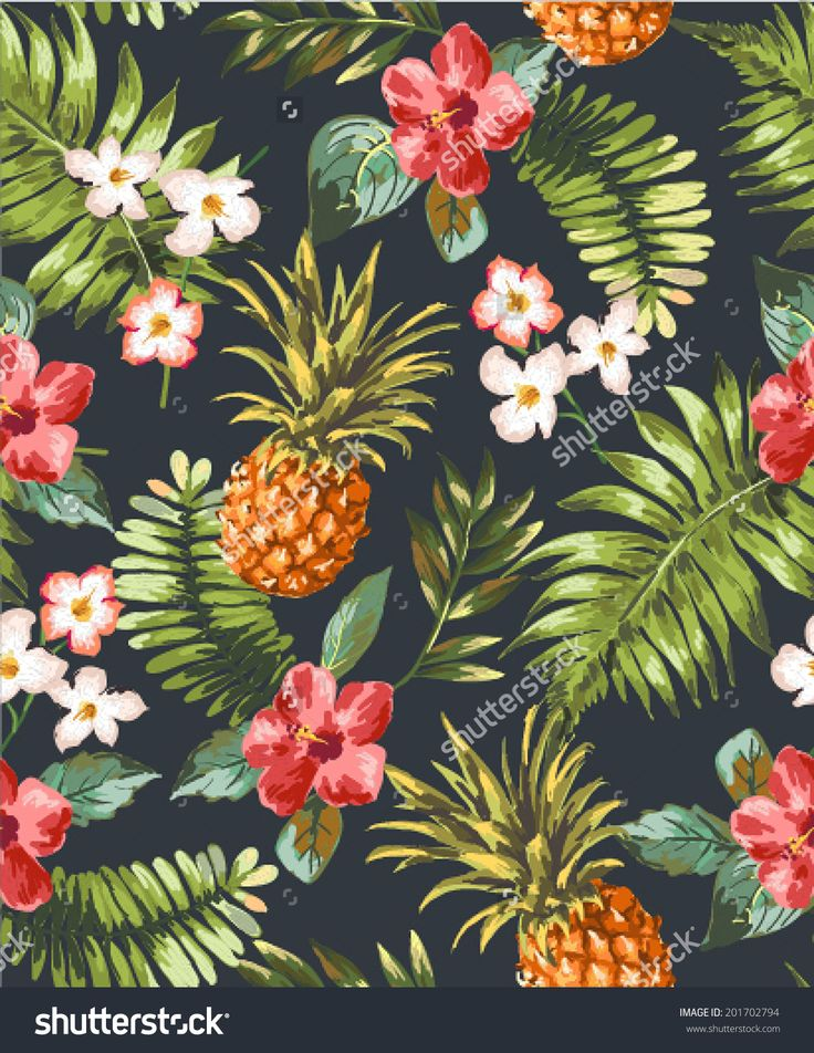 vintage pineapple wallpaper patterns - Google Search ...