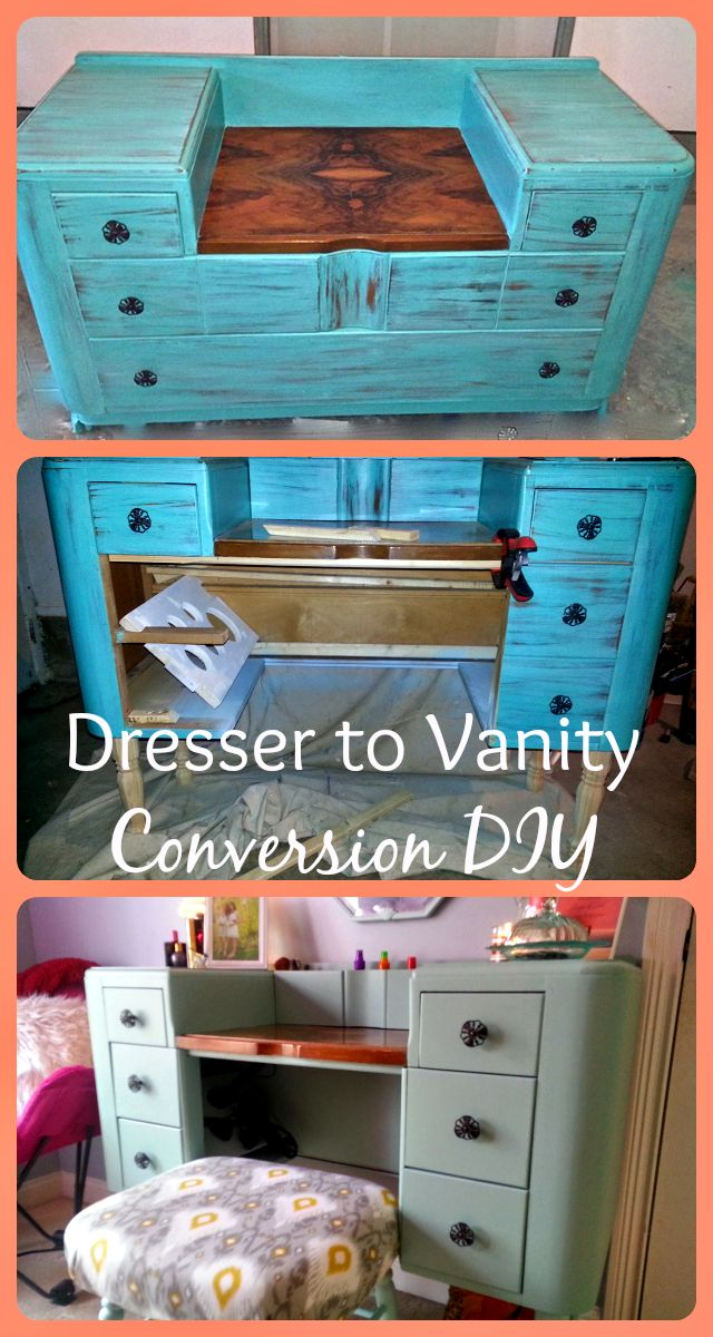 Diy Dresser To Vanity Conversion Hidden Storage