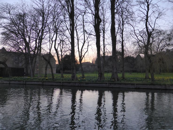 The view from Quayside across to Magdalene College gardens.