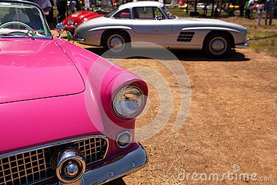 Classic Ford Thunderbird s Headlight and Front View