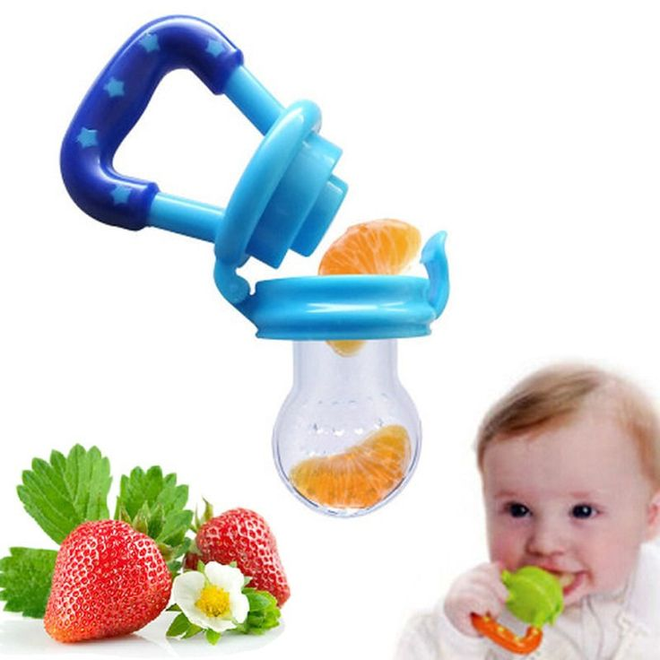 Feeding Pacifier Baby Fresh Food Fruits Feeder Dummy Soother Weaning Nipple 4 colors pink yellow green blue