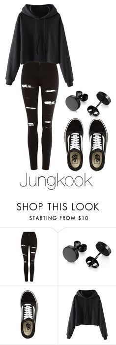 """""""Jungkook"""" by jakellinne on Polyvore featuring moda, Topshop e Vans"""