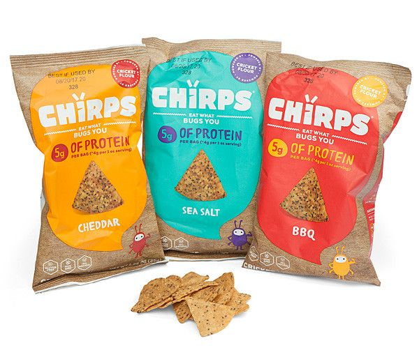 Cricket Chirps, Crunchy High Protein Snack Chips Made With Real Cricket Flour