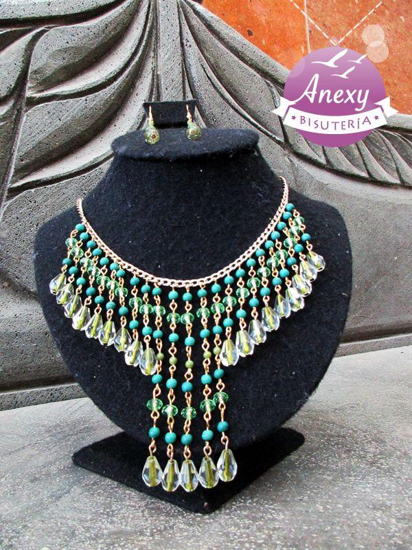 """Collar """"Cascada Egipcia"""" #Artesanías #Mexicanas"""