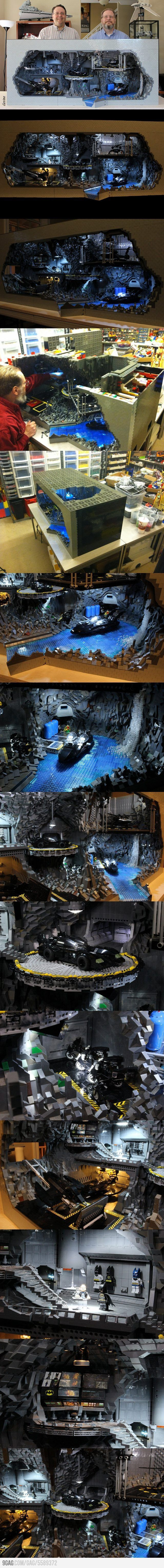Batcave made out of 20,000 LEGO pieces! these guys have to much time on their hands!!!!