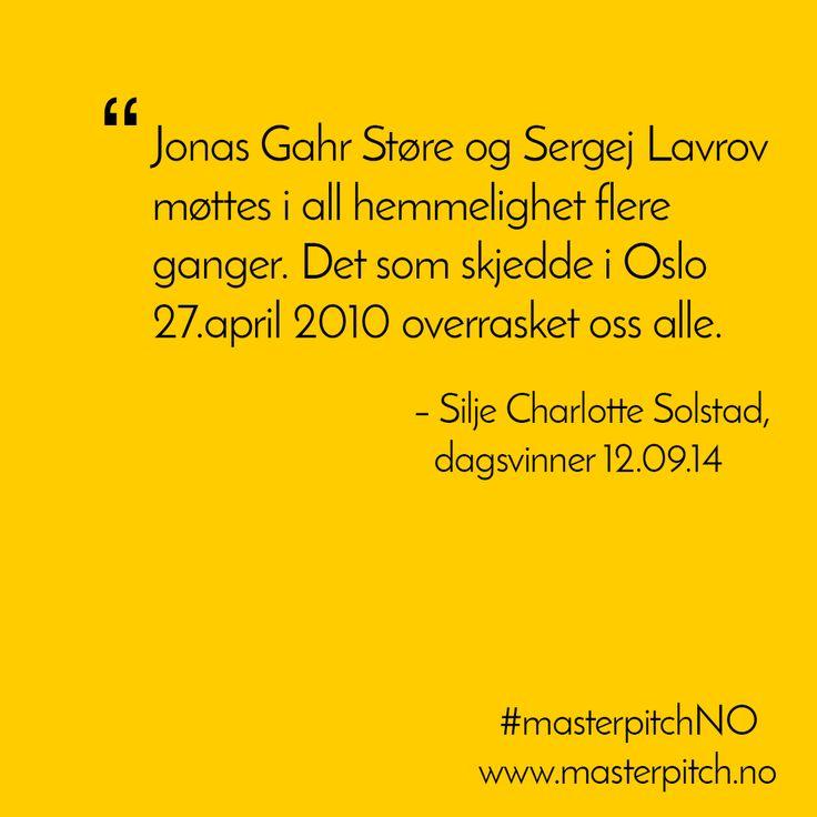 #dagenspitch 12.sept fra Silje Charlotte Solstad. http://masterpitch.no/archives/2571
