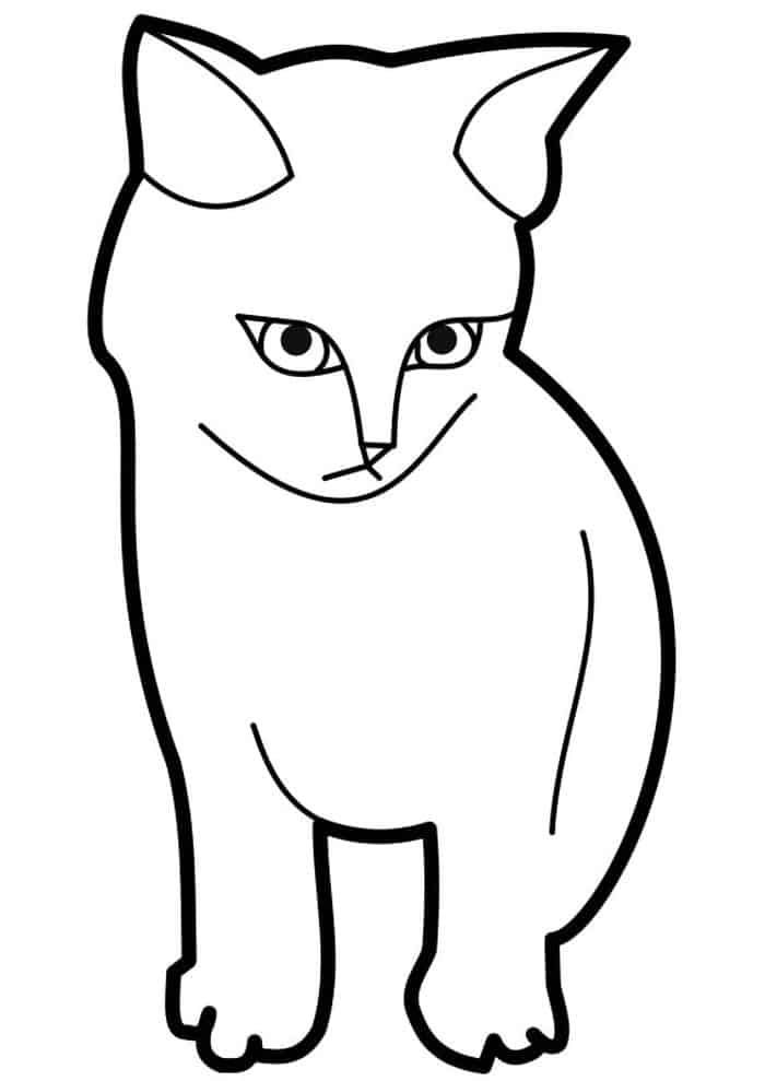 Black Cat Coloring Pages Animal Coloring Pages Cat Outline Cat Coloring Book