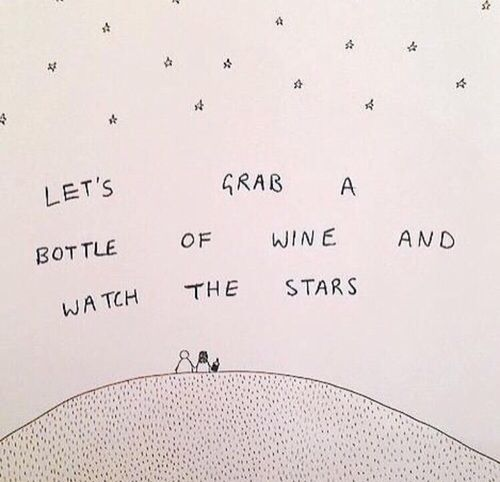 bottle of wine and stars