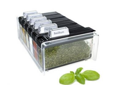 Spicebox kruidendoos zwart