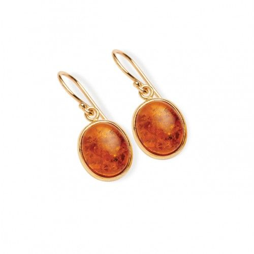 9ct Medium Amber Earring. gerrim.com