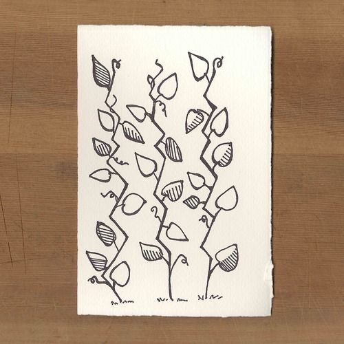 In the Morning | Day #4 | July 2014 | Mint Tea | Amy Huber | Vine Illustration