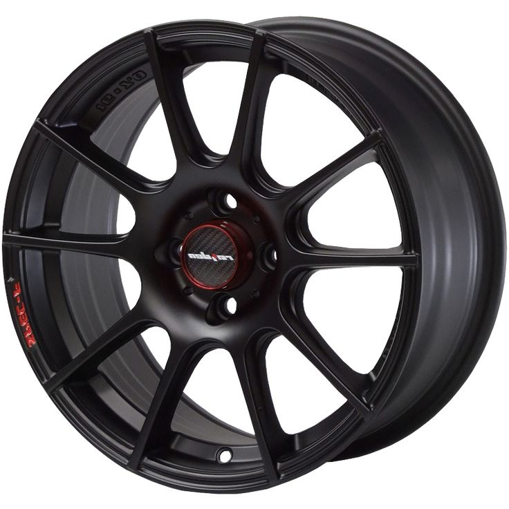 LENSO SPEC F MATT BLACK alloy wheels with stunning look for 4 studd wheels in MATT BLACK finish with 16 inch rim size