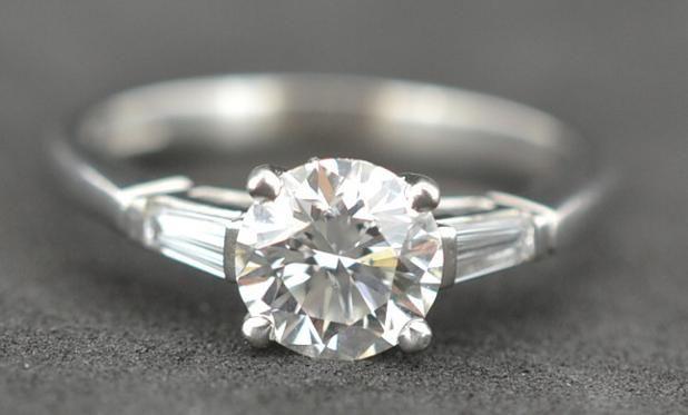 1.01ct Round Brilliant Certified Excellent cut diamond set in Platinum.  #diamonds #Engagement #PlatinumCork