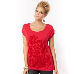 Camiseta en dos tejidos ANNE WEYBURN