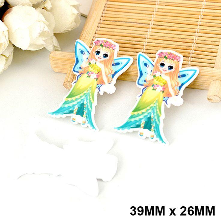 50pcs Cartoon Princess Green Dress Fairy Flat Back Resin Kawaii Planar Resin DIY Crafts for Home Decoration Accessories DL-524