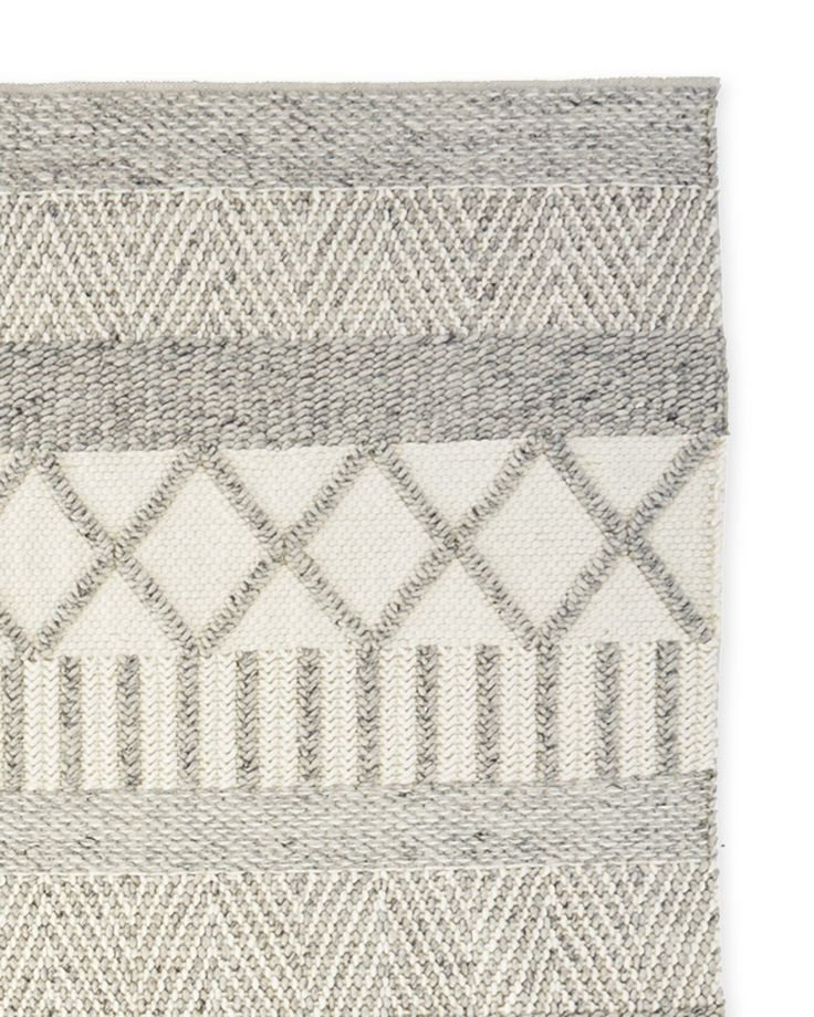 Like folk art for the floor, this Scandinavian-inspired design is hand woven in heathery shades from undyed New Zealand wool, chosen for its…