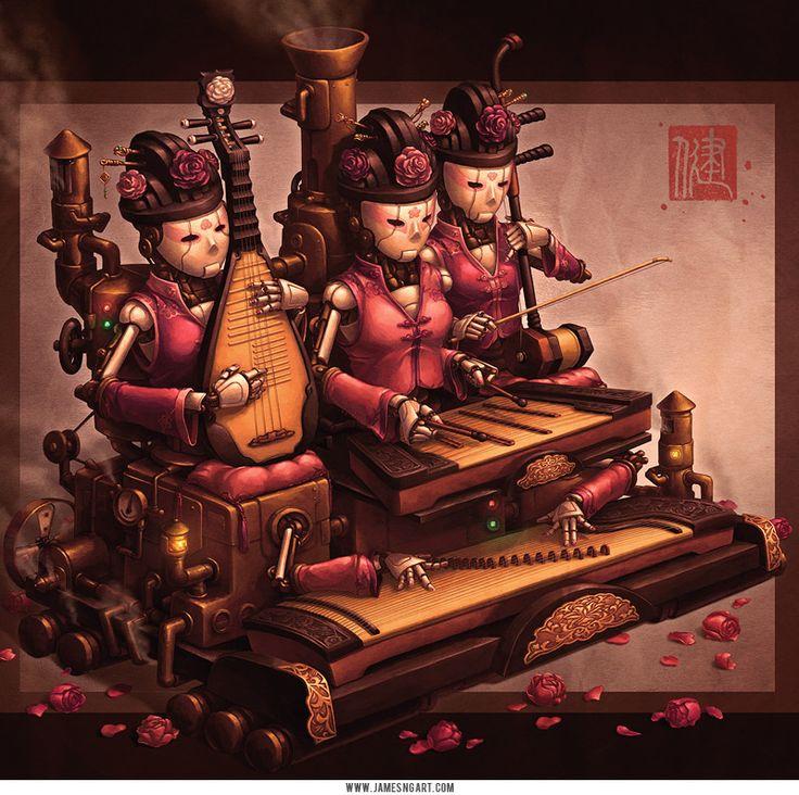 Китайский стимпанк художника Джеймса Инга из...