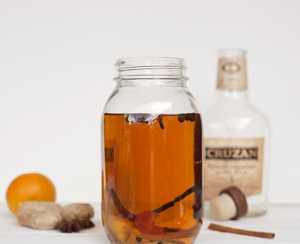 HOW TO INFUSE YOUR OWN RUM!  Ingredients:  750 ml rum 1 cinnamon stick 1/2 to 1 vanilla bean 2 to 4 allspice berries 3 to 4 whole cloves 1/2 to 1 star anise 4 to 6 black peppercorns 1 cardamom pod 1/8 teaspoon freshly grated nutmeg 1 to 2 strips orange zest, white pith removed 1/2 to 1 inch strip fresh peeled ginger  Directions:  Add your ingredients large quart sized mason jar, fill with rum and seal the lid. Let it infuse for two days and taste. If you want more spice, let it infuse…