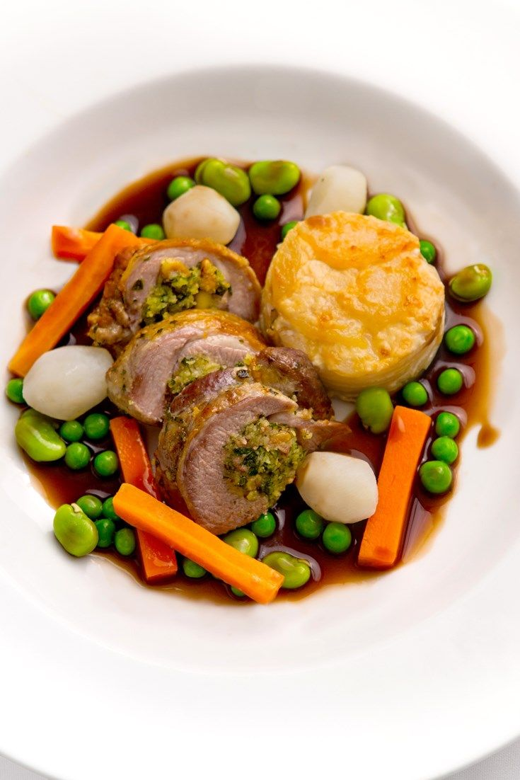 Bryan Webb's roast lamb recipe features a fantastic parsley and pine nut stuffing in the lamb saddle. This recipe for roast lamb is a winner for roast dinner
