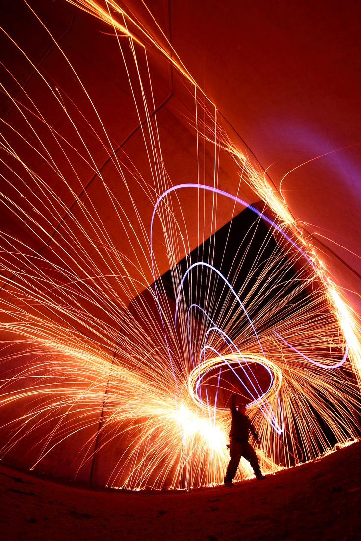 Light Painting. Time Lapse Photography.