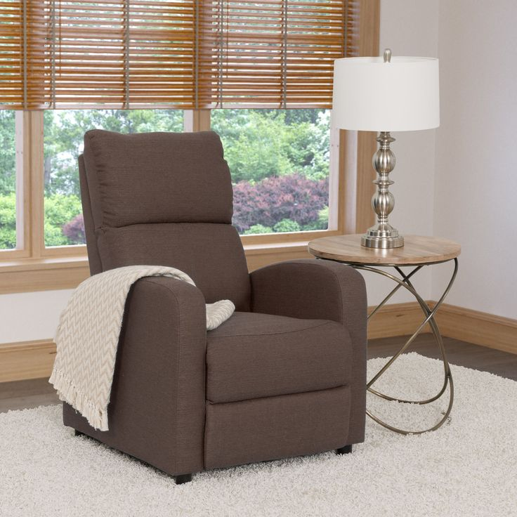 corliving moor linen recliner chair