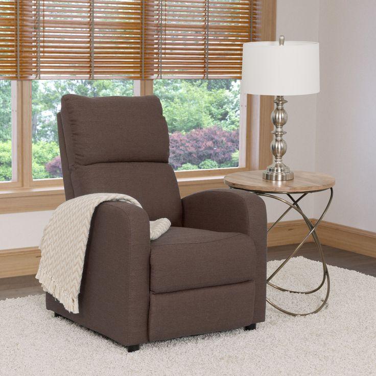 CorLiving Moor Linen Contemporary Recliner Chair