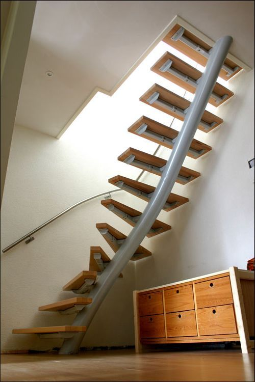 The Breathtaking Solutions for Staircase in Small Spaces : Beautiful Staircase For Small Spaces Smallest Spiral