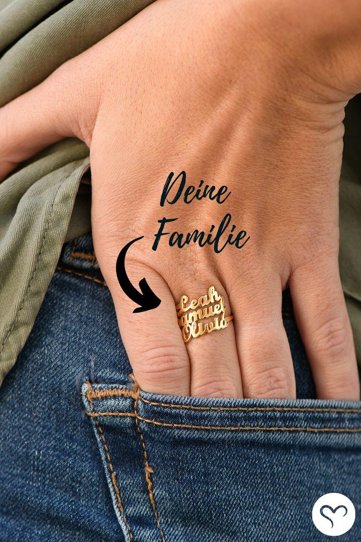 Kreieren Sie Ihren eigenen personalisierten Ring nur bei Meine Namenskette