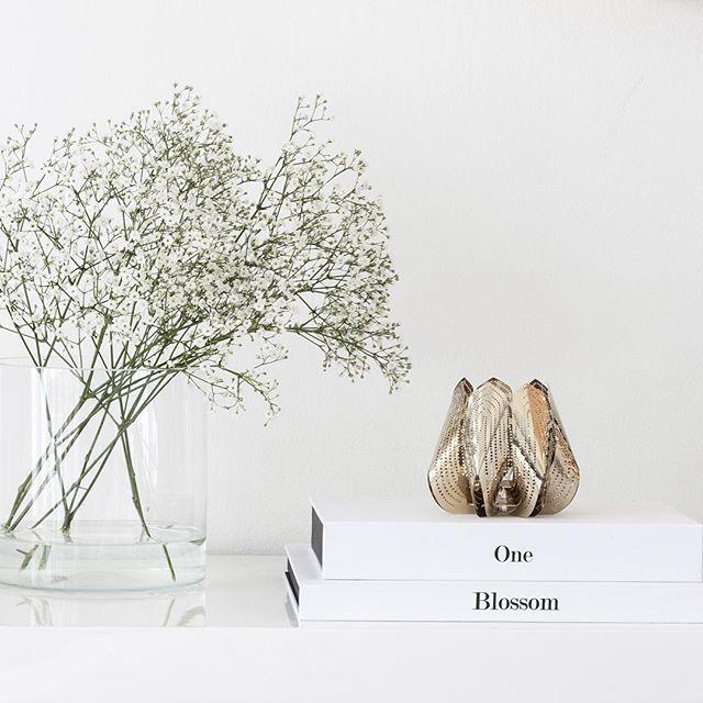 Luxury is in each detail  #golden #blossom #tealightholder #luxury #design #interior #beandliv
