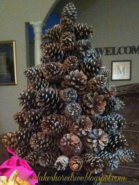 decoraçao natal com pinhas