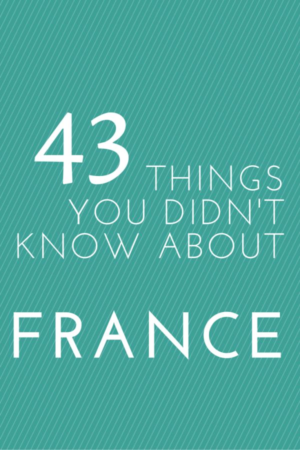 Things You Didn't Know About France from @insidetravellab