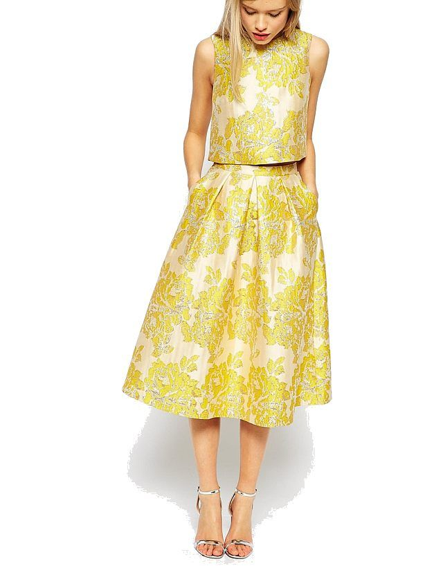 fashionmyloveitaly.com 2015 Matrimonio_Abiti da ceremonia donna_Wedding-Guest Dresses For Her_Asos_Jacquard_Oro