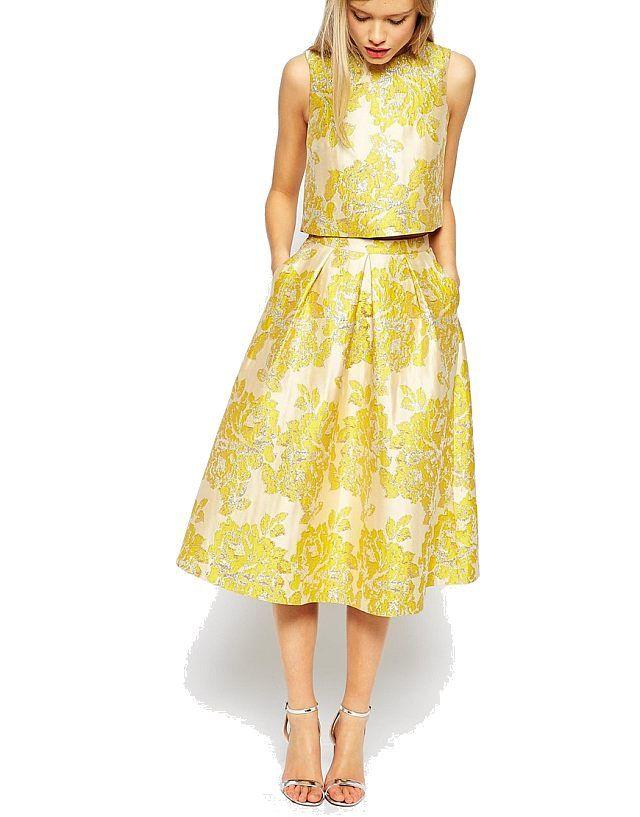 fashionmyloveitaly.com 2015 Matrimonio_Abiti da ceremonia donna_Wedding-Guest Dresses For Her_Asos_Jacquard_Oro