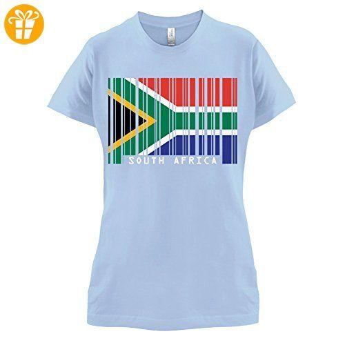 South Africa / Südafrika Barcode Flagge - Damen T-Shirt - Himmelblau - XXL (*Partner-Link)