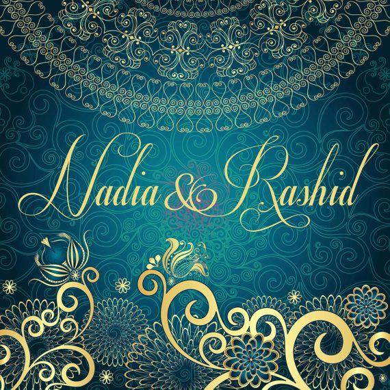Customizable Indian Wedding Invitations by PolkaDotInvites on Etsy