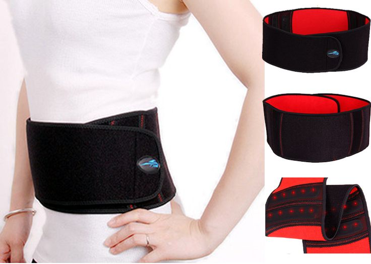 2014 Hot Magnetic therapy Self heating waist brace relief back pain adjustable elastic waist support belt lumbar protector brace